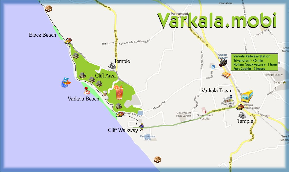 Varkala India  city photos gallery : varkalainfo map
